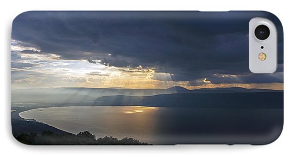 Sunset Over The Sea Of Galilee IPhone 7 Case by Dubi Roman