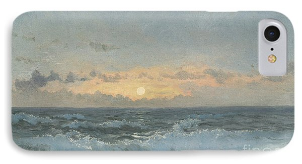 Sunset Over The Sea IPhone Case by William Pye