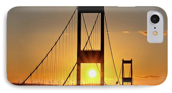 Sunset Over The Severn Phone Case by Brian Roscorla
