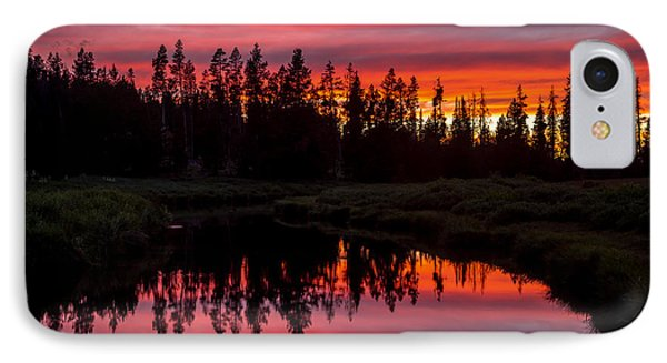 Sunset Over The Stillwater IPhone Case by TL  Mair