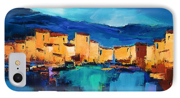 IPhone Case featuring the painting Sunset Over The Village 3 By Elise Palmigiani by Elise Palmigiani