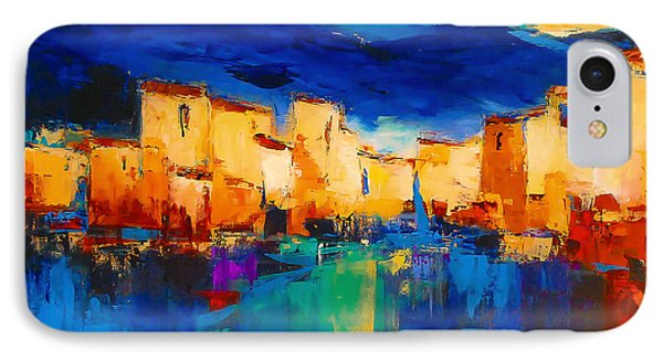 Sunset Over The Village Phone Case by Elise Palmigiani