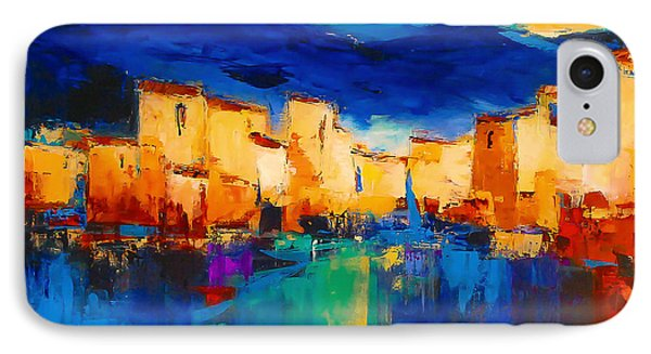 Sunset Over The Village IPhone Case
