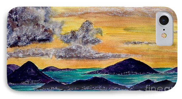 Sunset Over The Virgin Islands IPhone Case