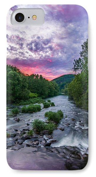 Sunset Over The Vistula In The Silesian Beskids IPhone Case by Dmytro Korol
