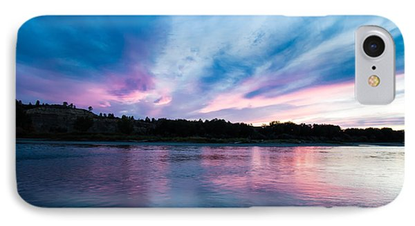 Sunset Over The Yellowstone IPhone Case by Shevin Childers