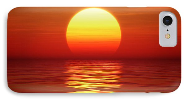 Dawn iPhone 7 Case - Sunset Over Tranqual Water by Johan Swanepoel
