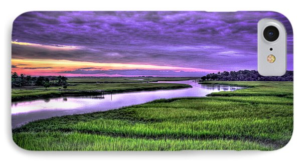 Sunset Over Turners Creek Savannah Tybee Island Ga IPhone Case
