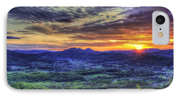 Sunset Over Wears Valley Tennessee Mountain Art IPhone Case