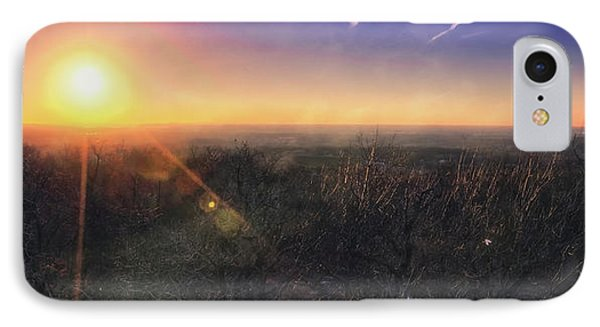 Sunset Over Wisconsin Treetops At Lapham Peak  IPhone Case by Jennifer Rondinelli Reilly - Fine Art Photography