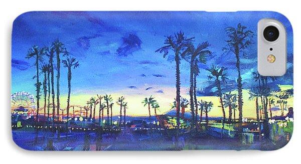Sunset Palms Santa Monica IPhone Case by Bonnie Lambert