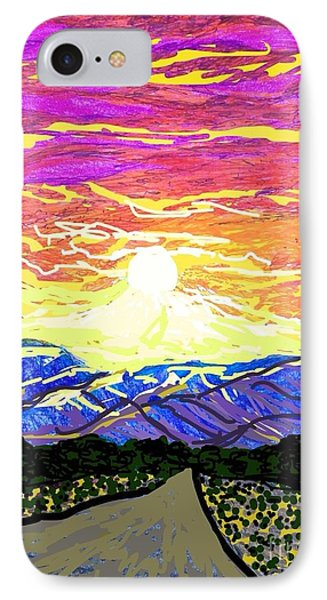 Sunset Pearblossom Highway IPhone Case