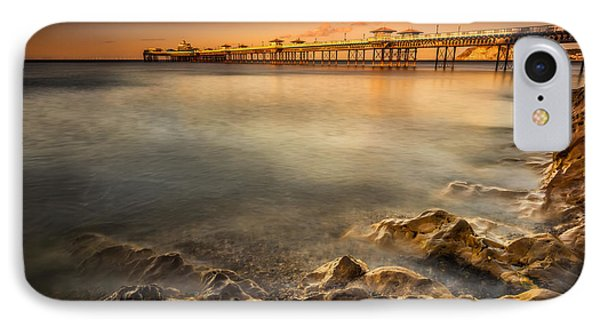 Sunset Pier IPhone Case by Adrian Evans