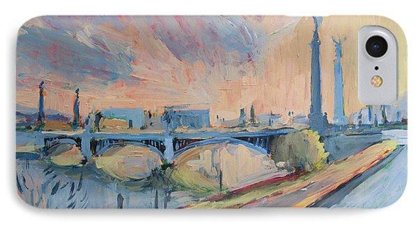 Sunset Pont Fragnee IPhone Case