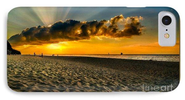 Sunset Puka Beach IPhone Case by Adrian Evans