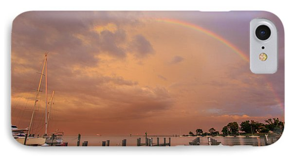 IPhone Case featuring the photograph Sunset Rainbow by Jennifer Casey