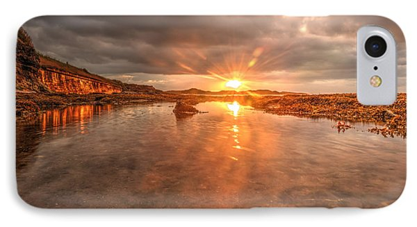 IPhone Case featuring the photograph Sunset Reflection by Gouzel -