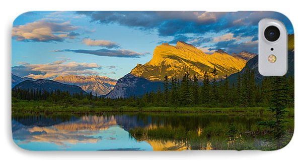 Sunset Reflections In Banff IPhone Case by John Roberts