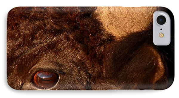 Sunset Reflections In The Eye Of A Buffalo Phone Case by Max Allen