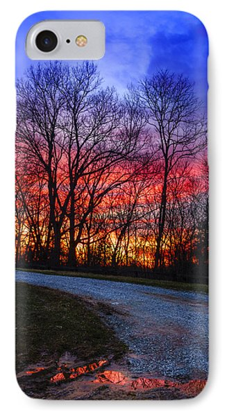 Sunset Road IPhone Case by Alexey Stiop
