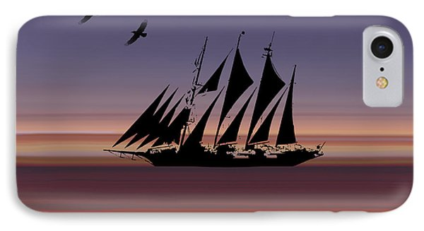 Sunset Sail Abstract IPhone Case