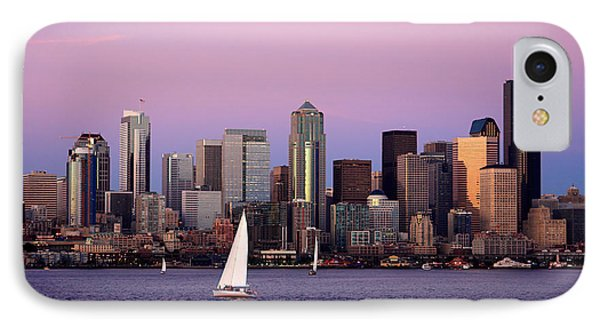 Sunset Sail In Puget Sound IPhone Case by Adam Romanowicz