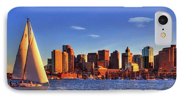 Sunset Sail On Boston Harbor IPhone Case by Joann Vitali