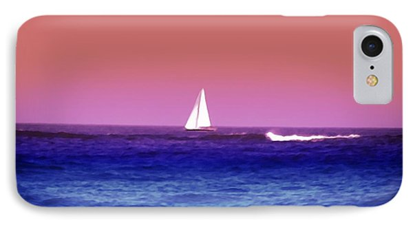 Sunset Sailboat Phone Case by Bill Cannon