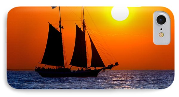 Sunset Sailing In Key West Florida Phone Case by Michael Bessler