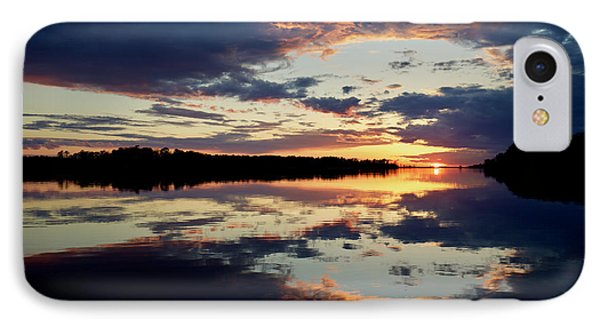 Sunset Scene On The River IPhone Case