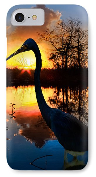 Sunset Silhouette Phone Case by Debra and Dave Vanderlaan