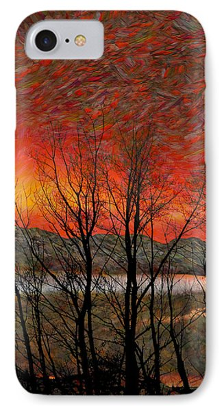 Sunset Soliloquy IPhone Case by Ed Hall