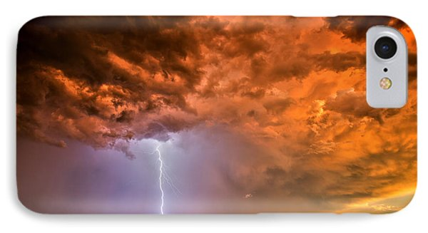 IPhone Case featuring the photograph Sunset Strike by James Menzies