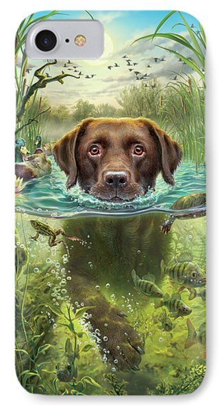 Sunset Swim With Friends IPhone Case by Mark Fredrickson