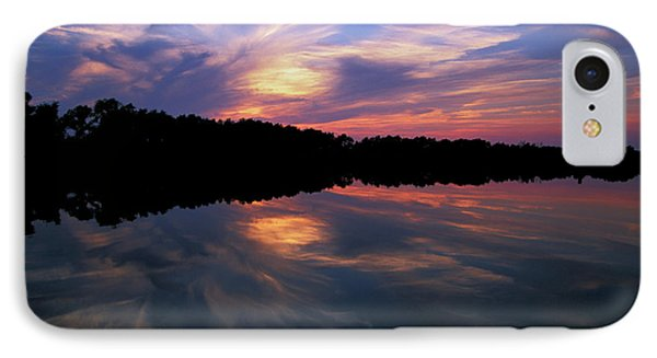 IPhone Case featuring the photograph Sunset Swirl by Steve Stuller