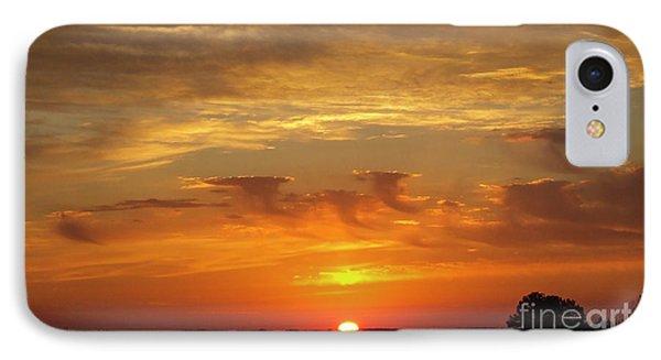 Sunset Tornadoes Art IPhone Case