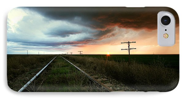 End Of A Stormy Day IPhone Case by Brian Gustafson