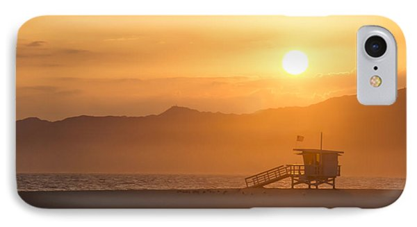 IPhone Case featuring the photograph Sunset Venice Beach  by Christina Lihani
