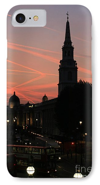 Sunset View From Charing Cross  IPhone Case by Paula Guttilla