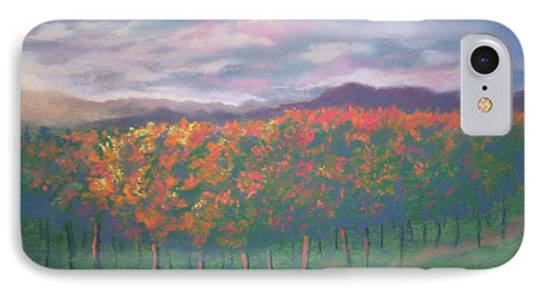 Sunset Vineyard IPhone Case by Becky Chappell