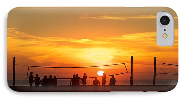 Sunset Volleyball IPhone Case by Kim Wilson