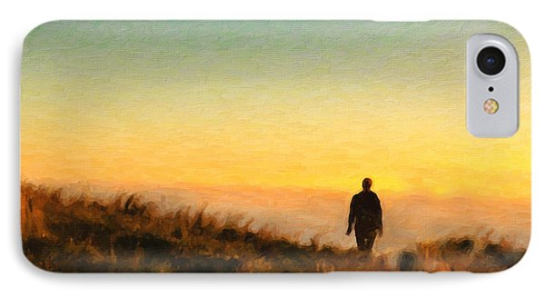 Sunset Walk IPhone Case by Chris Armytage