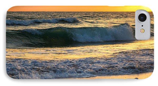 Sunset Waves IPhone Case by Rebecca Hiatt