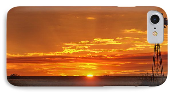 Sunset Windmill 02 IPhone Case by Rob Graham