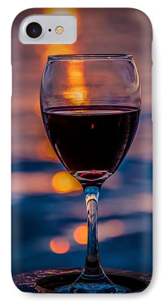 IPhone Case featuring the photograph Sunset Wine by Michaela Preston