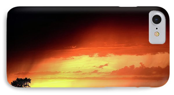 Sunset With Rain In Scenic Saskatchewan Phone Case by Mark Duffy