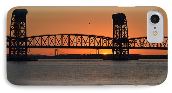 Sunset's Last Light Bridges Over Jamaica Bay IPhone Case by Maureen E Ritter