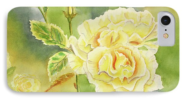 Sunshine And Yellow Roses Phone Case by Kathryn Duncan