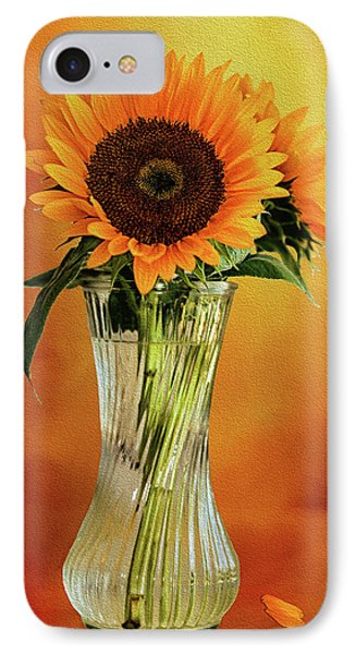 Sunshine In A Vase IPhone Case by Diane Schuster