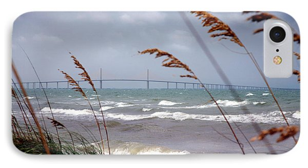 Sunshine Skyway Bridge Viewed From Fort De Soto Park IPhone Case